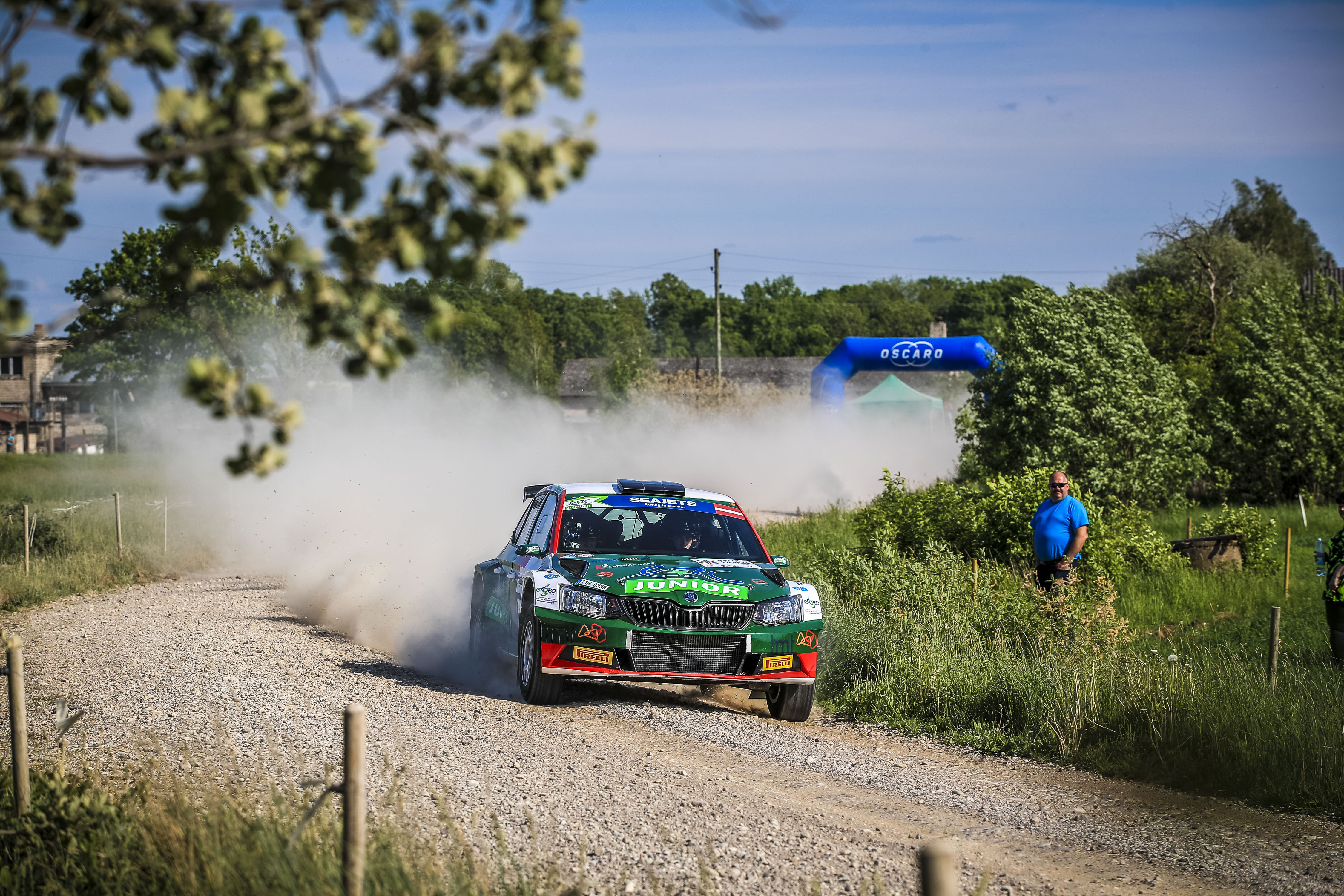 11 Martins SESKS, (LVA), Krisjanis CAUNE, (LVA), Skoda Fabia R5, LMT Autosporta Akademija, action during the 2019 European Rally Championship ERC Liepaja rally,  from may 24 to 26, at Liepaja, Lettonie - Photo Gregory Lenormand / DPPI