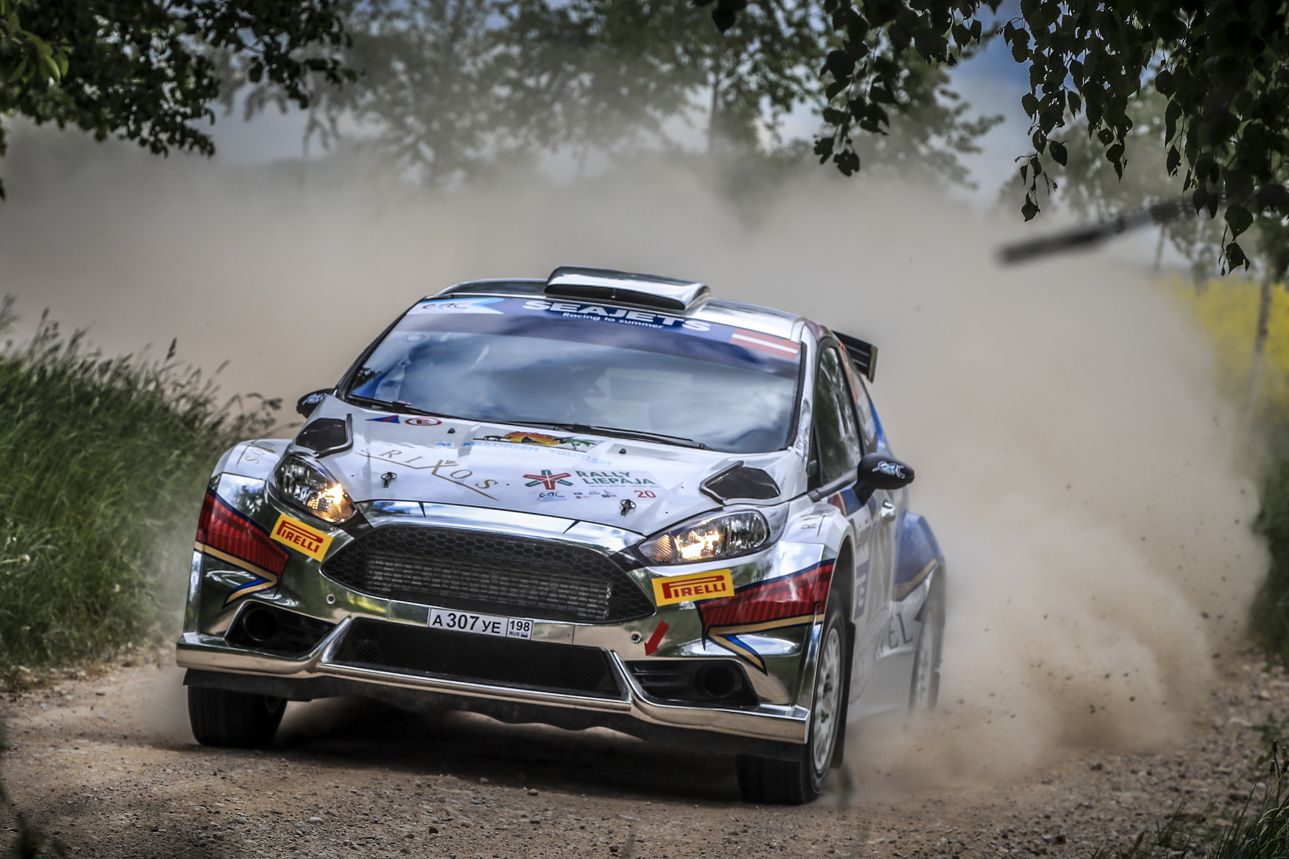 20 Artur MURADIAN, (RUS), Pavel CHELEBAEV , (RUS), Ford Fiesta R5, action during the 2019 European Rally Championship ERC Liepaja rally,  from may 24 to 26, at Liepaja, Lettonie - Photo Gregory Lenormand / DPPI