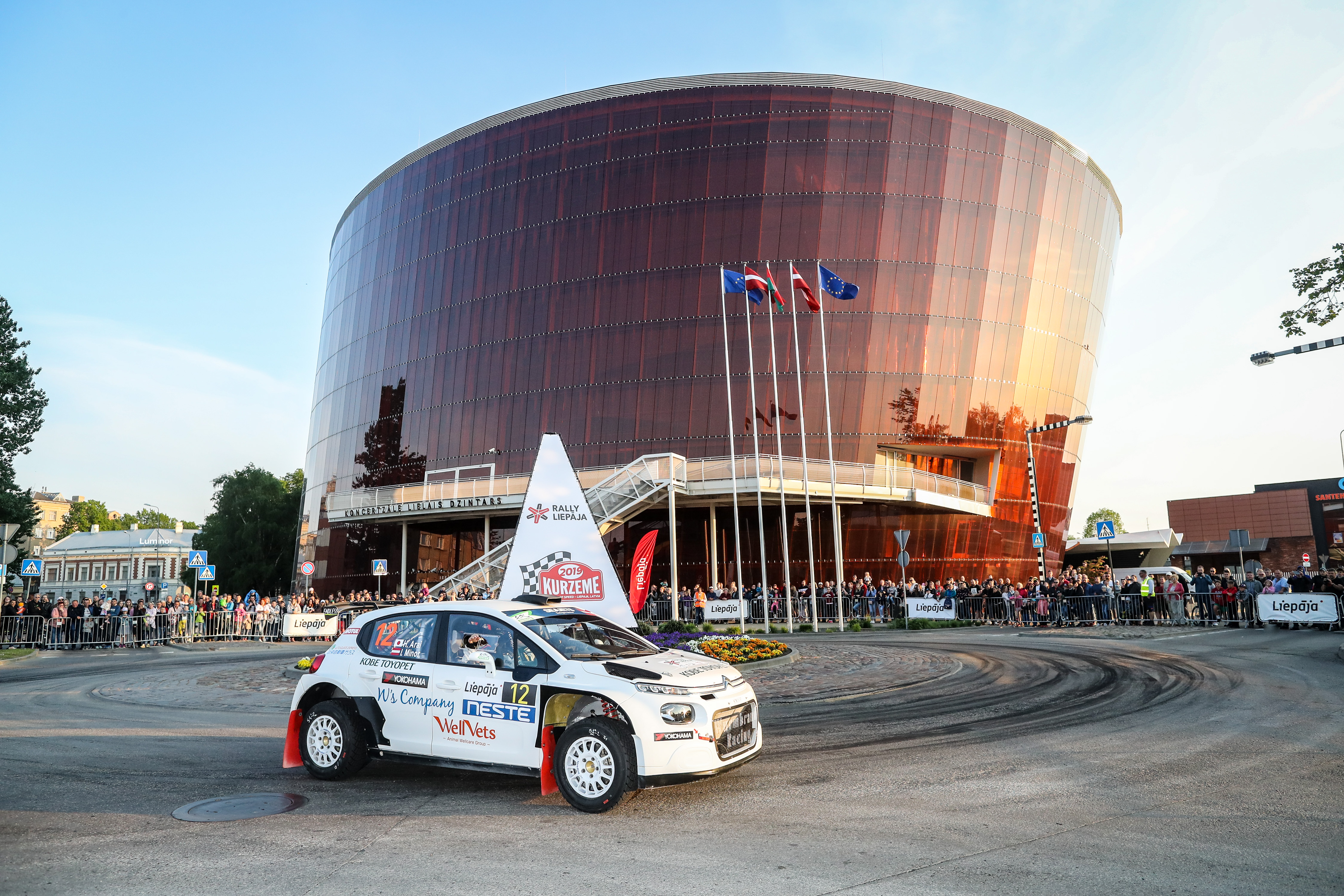 12 Hiroki ARAI, (JPN), Ilka MINOR, (AUT), Citroën C3 R5, STARD, action during the 2019 European Rally Championship ERC Liepaja rally,  from may 24 to 26, at Liepaja, Lettonie - Photo Alexandre Guillaumot / DPPI