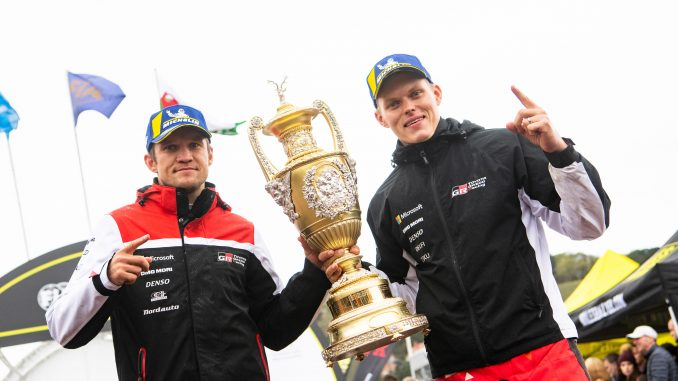 Ойт Танак и Мартин Яревоя с победата на рали Уелс 2019