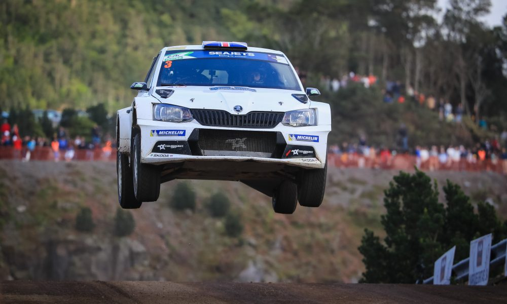 03 INGRAM Chris (gbr) , WHITTOCK Ross (gbr), Toksport WRT, Skoda Fabia R5, action during the 2019 European Rally Championship ERC Azores rally,  from March 21 to 23, at Ponta Delgada Portugal - Photo Jorge Cunha / DPPI
